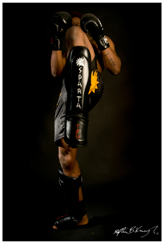 MMA Fighter, Henry Fadipe poses to show the new collection from Spartaten. Spireleven Studio, O'Connell St. Dublin 1. 13th November 2012