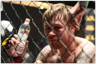 Philip Mulpeter after losing his fight to John Maguire. Cagewarriors 63, The Helix, DCU. 31st December 2013