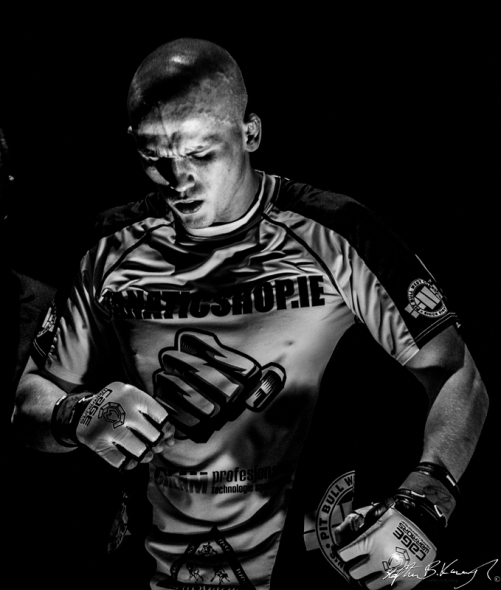 Mateusz Teodorczuk before his fight against Paul Redmond. Cagewarriors 63, The Helix, DCU. 31st December 2013