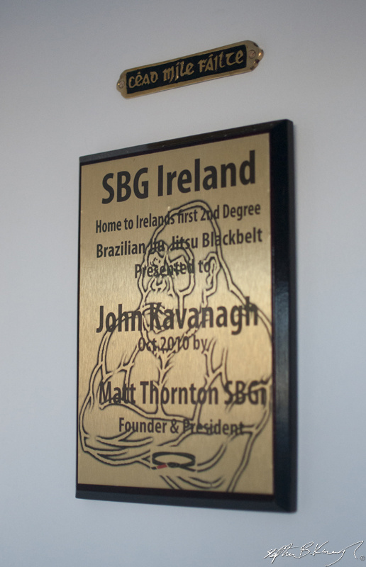 The plaque at the door of the new Straight Blast Gym branch on the Naas Road, Dublin. 11th January 2014