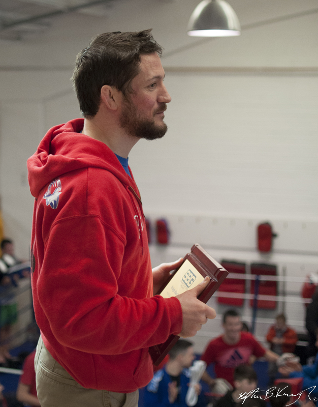 John Kavanagh speaking at the opening of the new Straight Blast Gym branch on the Naas Road, Dublin. 11th January 2014