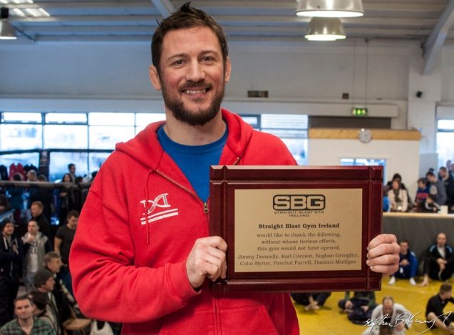 John Kavanagh at the opening of the new Straight Blast Gym branch on the Naas Road, Dublin. 11th January 2014