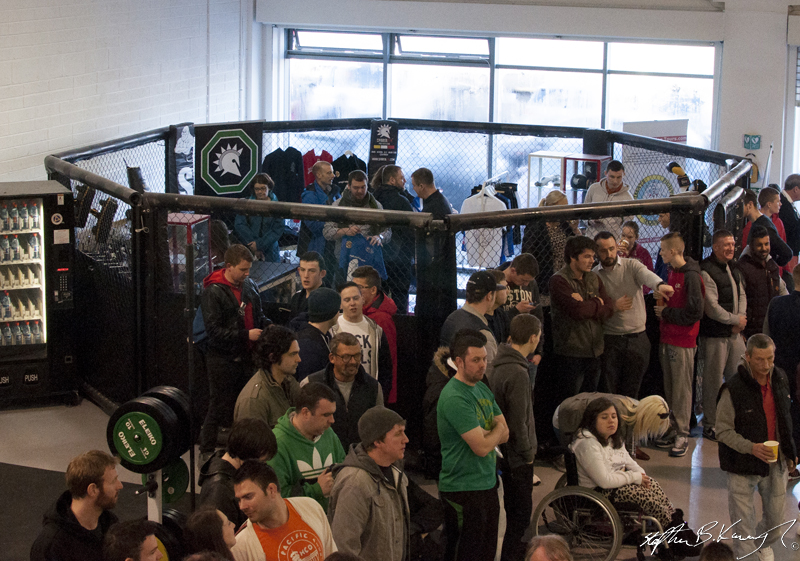 The Shoptagon, Spartaten's MMA gear shop, at the opening of the new Straight Blast Gym branch on the Naas Road, Dublin. 11th January 2014