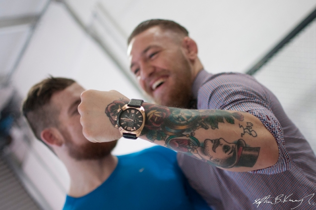 Conor McGregor at the opening of the new Straight Blast Gym branch on the Naas Road, Dublin. 11th January 2014