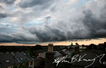 The sky over Rathmines, Dublin, Ireland. 23rd May 2014