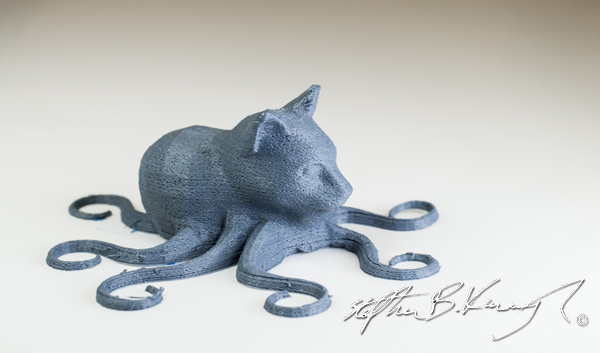 A 3D model cat-octopus printed in 3D Printing Dublin, Rathmines, Dublin, Ireland. 29th September 2014