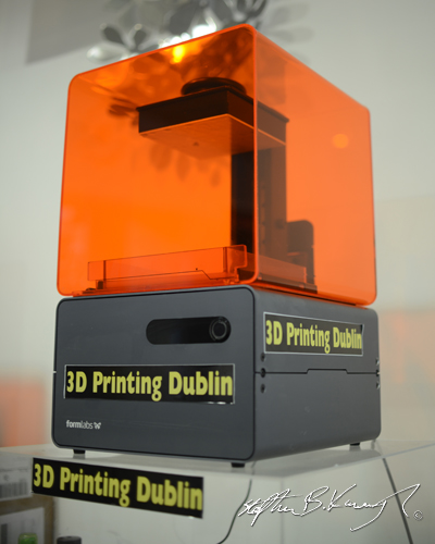 3D resin printer at 3D Printing Dublin. Rathmines, Dublin, Ireland. 6th October 2014