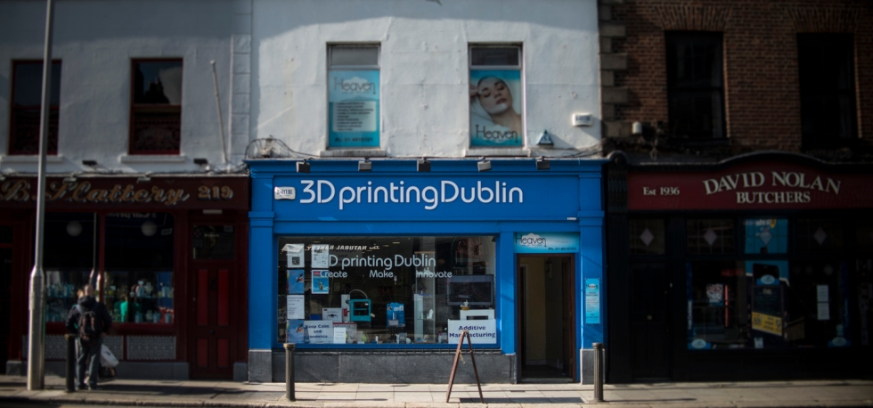 Shop frontage at 3D Printing Dublin. Rathmines, Dublin, Ireland. 6th October 2014