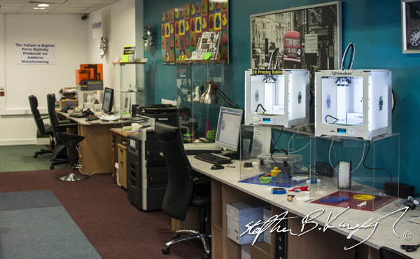 Shop interior at 3D Printing Dublin. Rathmines, Dublin, Ireland. 9th October 2014