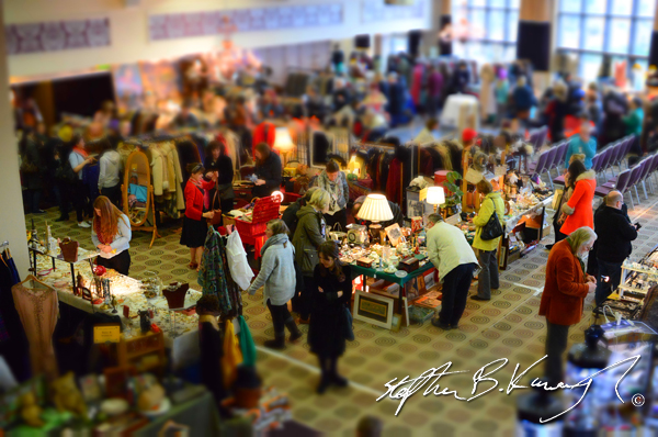 General view of the stalls. Vintage Fashion & Decor Fair, The Royal Marine Hotel, Dún Laoghaire, Dublin, Ireland. 9th November 2014
