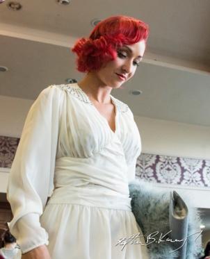 Sui C leaves the stage. Vintage Fashion & Decor Fair, The Royal Marine Hotel, Dún Laoghaire, Dublin, Ireland. 9th November 2014