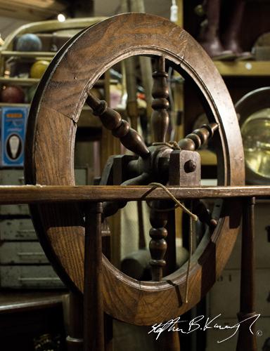 A spinning wheel. The 3rd Policeman, Rathmines, Dublin, Ireland. 13th November 2014