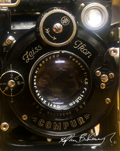 Contessa Nettel Compur c.1920 with a Zeiss Ikon lens. The 3rd Policeman, Rathmines, Dublin, Ireland. 27th May 2015. Picture Credit: Stephen B.K.