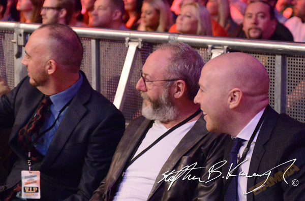 Actor Liam Cunningham in attandance. BAMMA 22. 3 Arena, North Wall Quay, Dublin. Picture credit: Stephen B.K.
